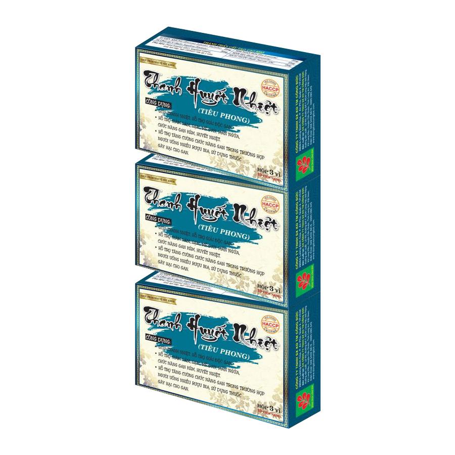 Combo 3 hộp Thanh huyết nhiệt giúp thanh nhiệt, giải độc gan