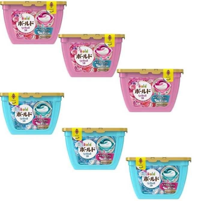 Thùng (6 hộp) viên giặt xả hương hoa - Tặng nước tẩy lồng máy giặt Nhật Bản