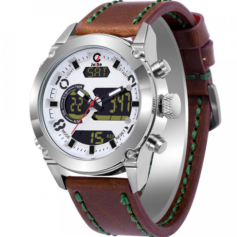 Men Dual Movement Quartz Electronic Watch Calendar Chronograph 3Atm Led Watches - 842333 , 9555974070937 , 62_13155291 , 466000 , Men-Dual-Movement-Quartz-Electronic-Watch-Calendar-Chronograph-3Atm-Led-Watches-62_13155291 , tiki.vn , Men Dual Movement Quartz Electronic Watch Calendar Chronograph 3Atm Led Watches