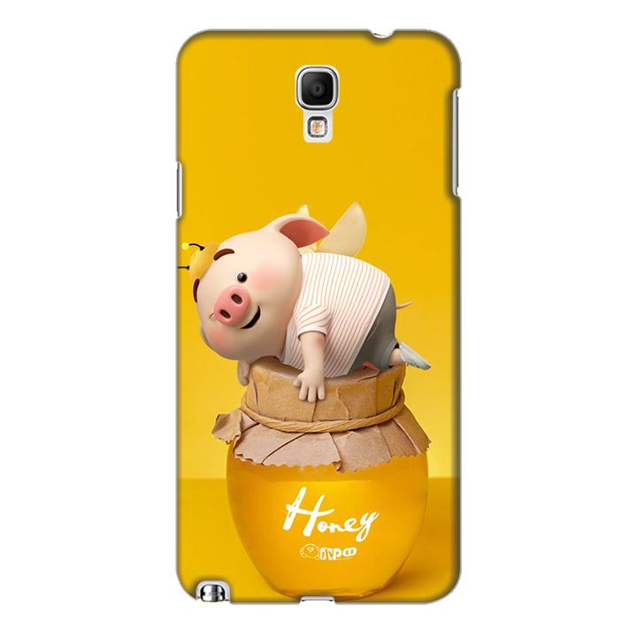 Ốp lưng nhựa cứng nhám dành cho Samsung Galaxy Note 3 Neo in hình Heo Cute