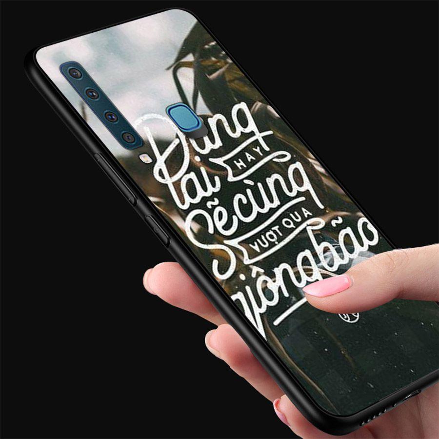 Ốp kính cường lực dành cho điện thoại Samsung Galaxy A9 2018/A9 Pro - M20 - lời trích - tâm trạng - tam116
