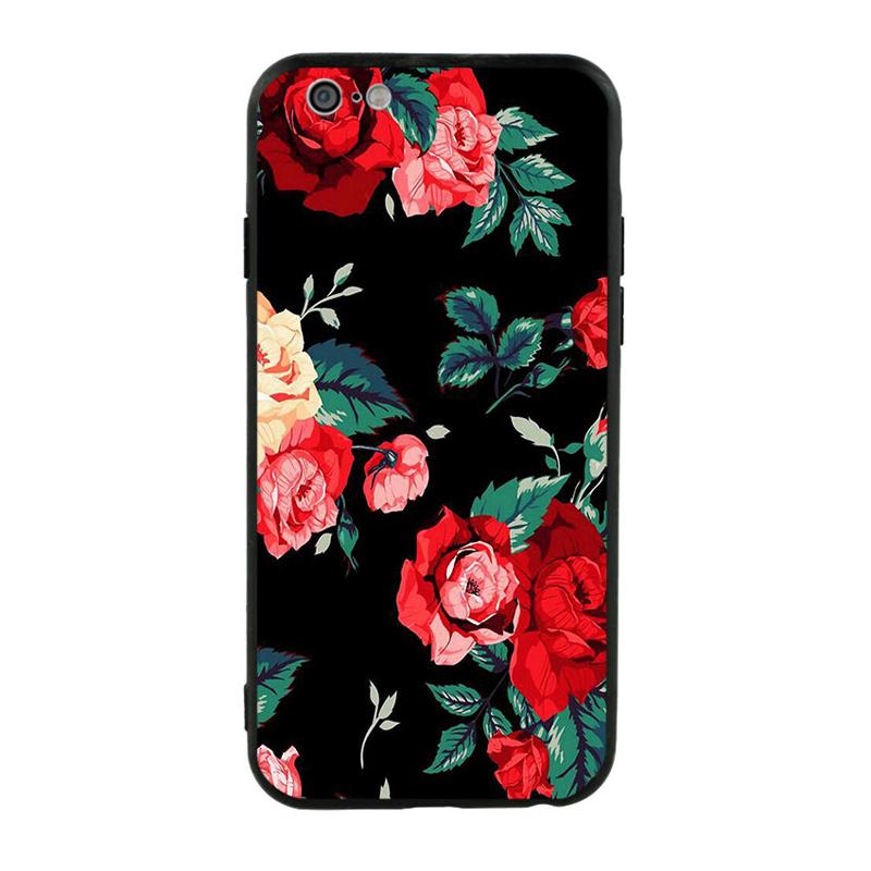 Ốp Lưng Viền TPU Cho iPhone 6/6S - Rose 01