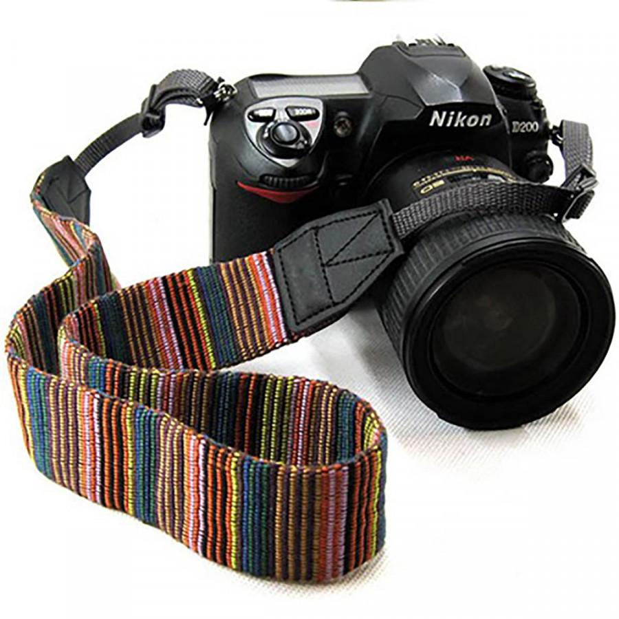 Dây đeo  chống mỏi thổ cẩm cho máy ảnh - Q00121