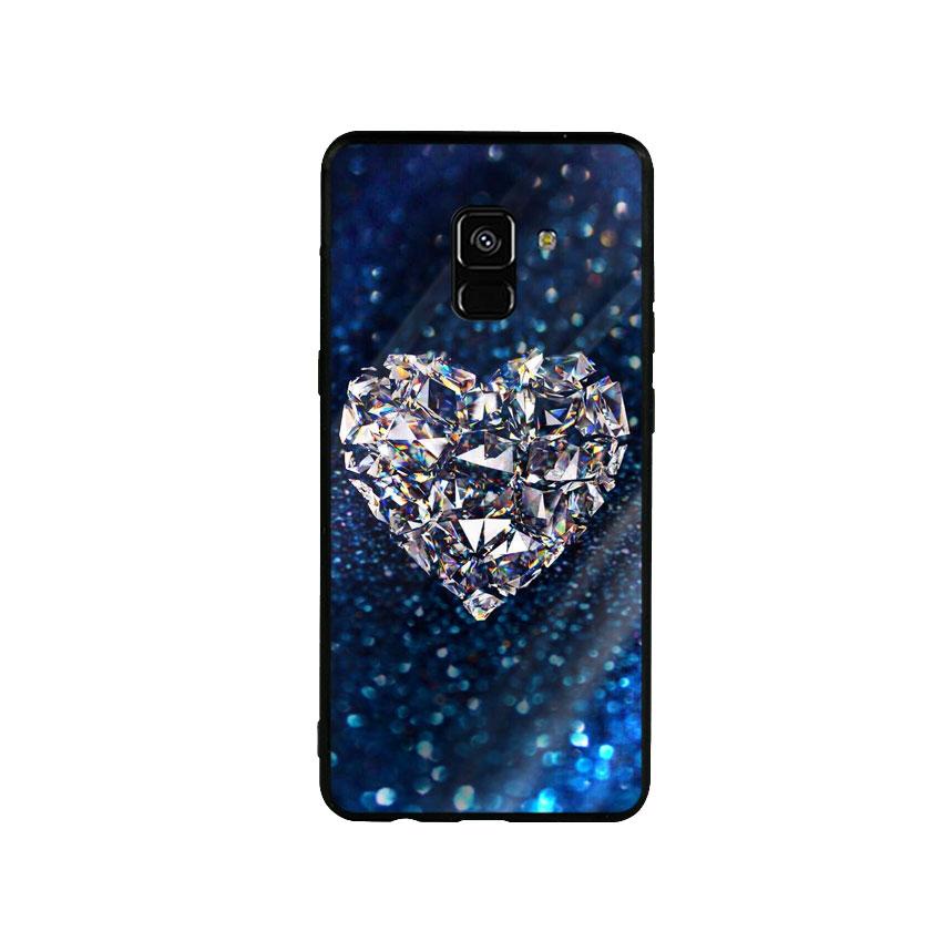 Ốp Lưng Kính Cường Lực cho điện thoại Samsung Galaxy A8 Plus - Heart 11
