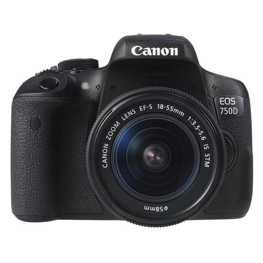 Máy Ảnh Canon 750D Kit 18-55mm STM - Hàng Chính Hãng (Tặng Thẻ 16GB + Túi Máy + Tấm Dán LCD)
