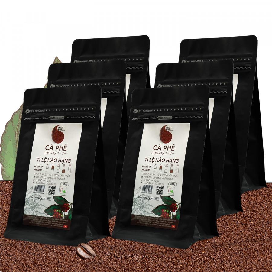 6 gói Cà phê bột nguyên chất 100% Tỉ lệ Hảo Hạng - 70% Robusta + 30% Arabica - Light coffee - gói 100g - 1410912 , 7949057597053 , 62_7198371 , 611000 , 6-goi-Ca-phe-bot-nguyen-chat-100Phan-Tram-Ti-le-Hao-Hang-70Phan-Tram-Robusta-30Phan-Tram-Arabica-Light-coffee-goi-100g-62_7198371 , tiki.vn , 6 gói Cà phê bột nguyên chất 100% Tỉ lệ Hảo Hạng - 70% Robus