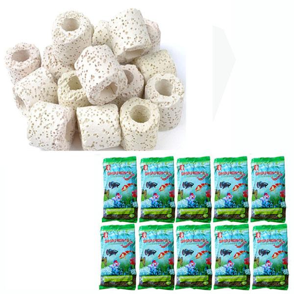 Combo Sứ Lọc bể cá (1kg) + 10 gói thức ăn ShangHai cho cá kiểng, cá koi, chép koi ...loại 100gr/gói - 1041105 , 5049574010881 , 62_3212543 , 249000 , Combo-Su-Loc-be-ca-1kg-10-goi-thuc-an-ShangHai-cho-ca-kieng-ca-koi-chep-koi-...loai-100gr-goi-62_3212543 , tiki.vn , Combo Sứ Lọc bể cá (1kg) + 10 gói thức ăn ShangHai cho cá kiểng, cá koi, chép koi ...