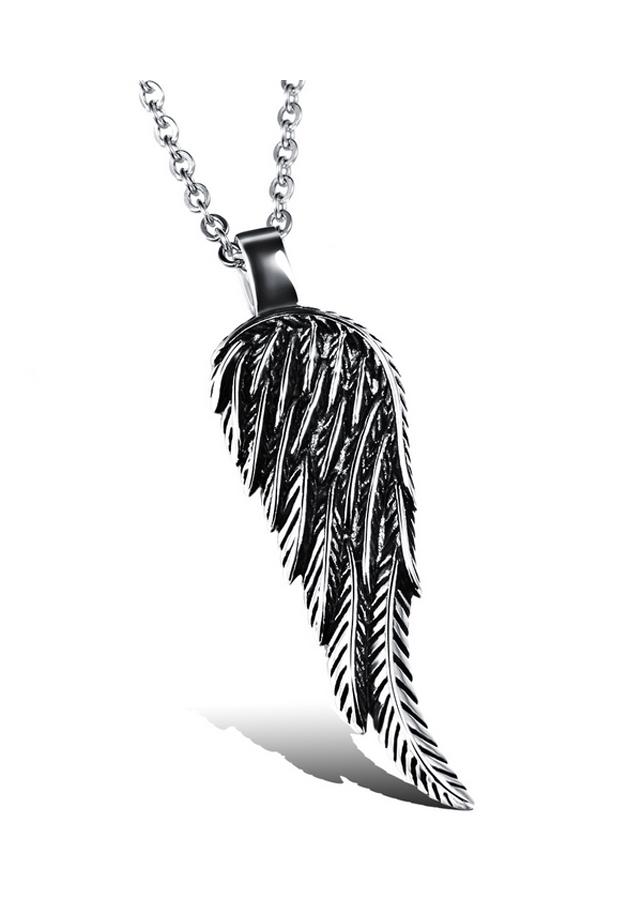Mặt dây chuyền cánh thiên thần Winwinshop88 MDC314 - Màu Bạc (5.5 cm)