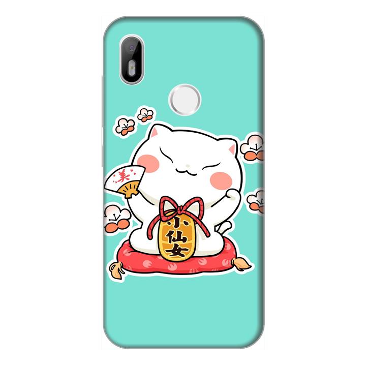 Ốp lưng điện thoại Vsmart Joy 1 hình Mèo May Mắn Mẫu 2 - Hàng chính hãng