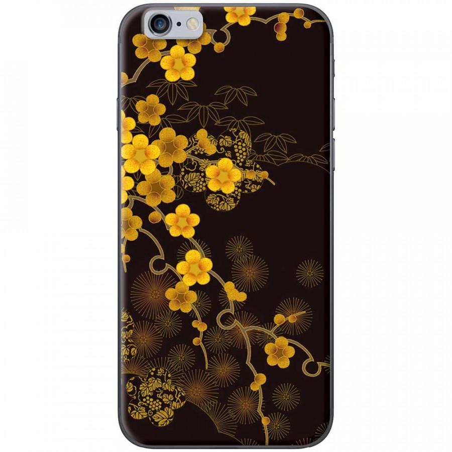 Ốp lưng dành cho iPhone 6 Plus, iPhone 6S Plus mẫu Hoa mai nền đen