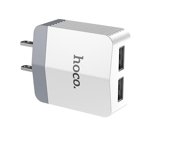 Cốc Sạc nhanh 3.0A 2 Cổng USB Hoco C13 – Hàng Chính Hãng