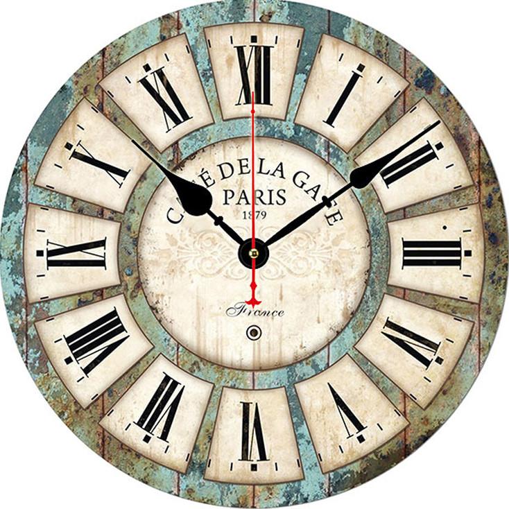 Đồng hồ treo tường Vintage Phong cách Châu Âu size to 30cm DH29