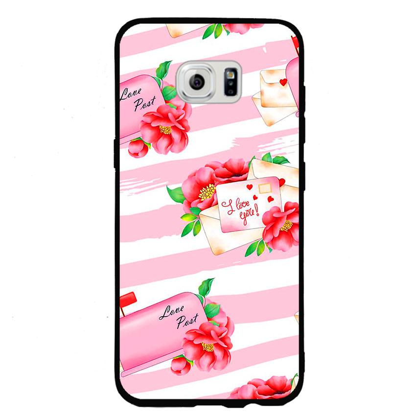 Ốp lưng nhựa cứng viền dẻo TPU cho điện thoại Samsung Galaxy S6 Edge -I Love U 02