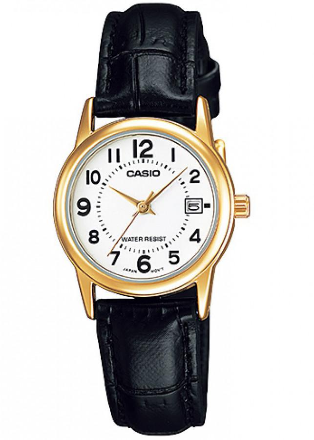 Đồng hồ nữ dây da Casio LTP-V002GL-7BUDF