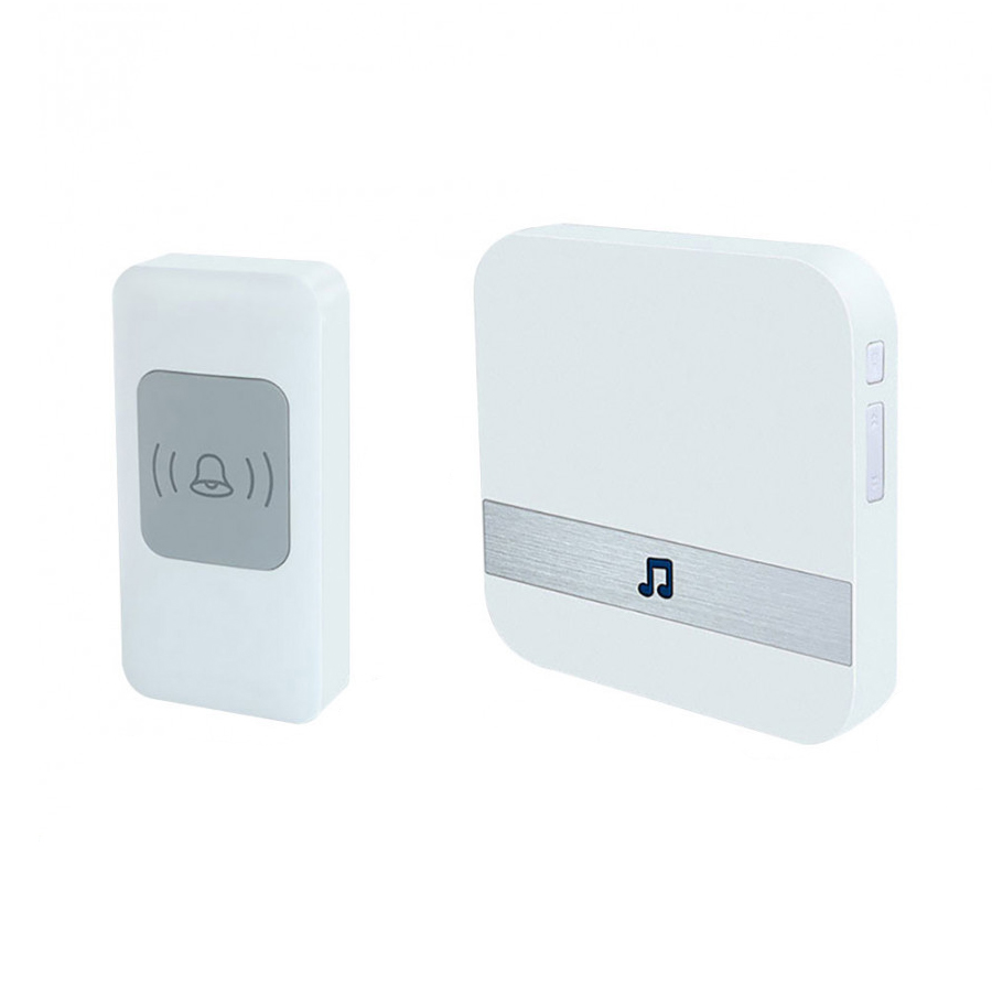 Wireless Music Doorbell Wireless Digital Doorbell Portable Home Security LED Buzzer Wireless Doorbell White 52 CHIME