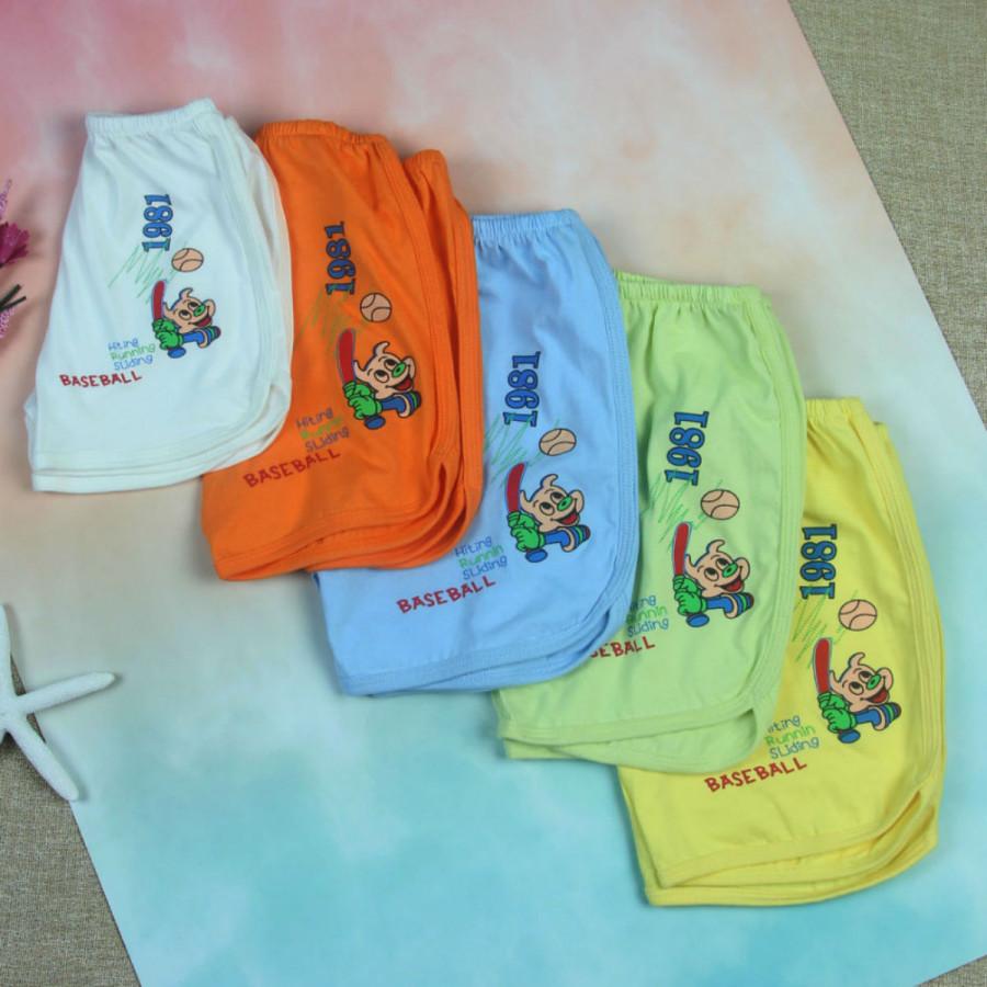 Combo 3 quần đùi sơ sinh vạt bầu ( giao màu ngẫu nhiêu )