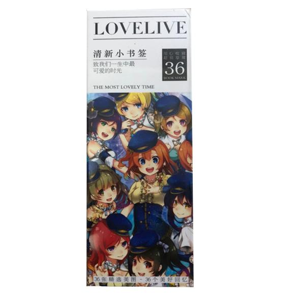Hộp Bookmark Love live 36 tấm (2 mẫu) anime