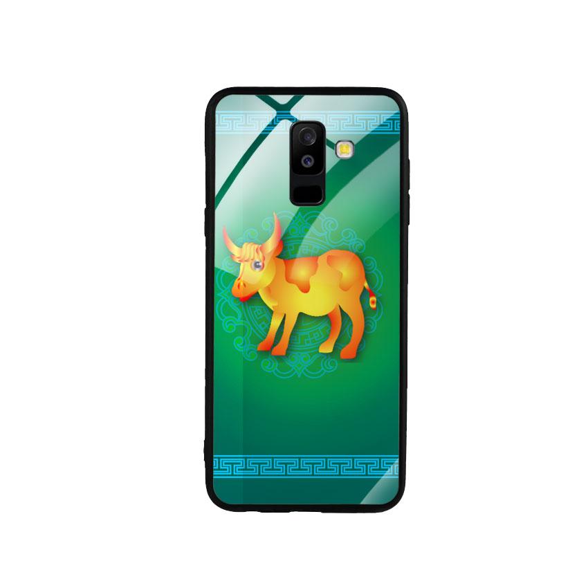 Ốp Lưng Kính Cường Lực cho điện thoại Samsung Galaxy A6 Plus 2018 - Tuổi Sửu