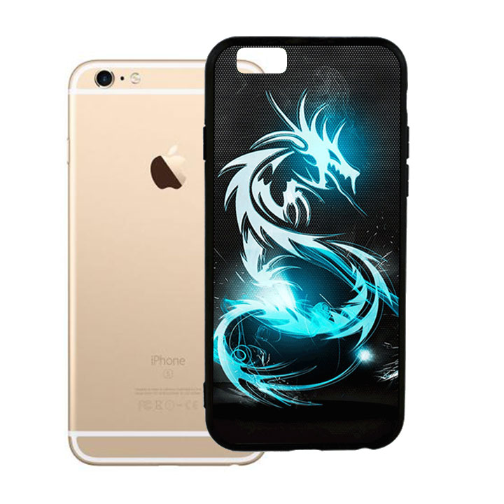 Ốp lưng viền TPU cho Iphone 6 Plus - Dragon 03