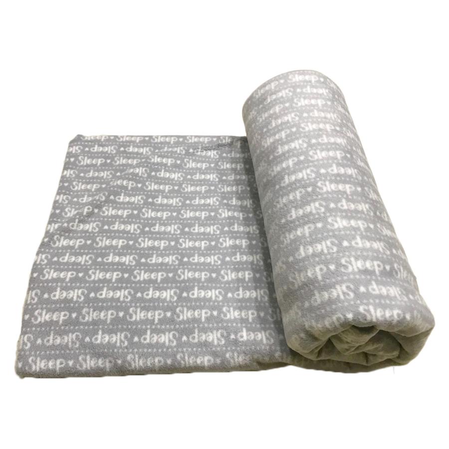 Chăn Mền Nỉ Cotton  Sleep - Xám (1.8 x 1.5 m)