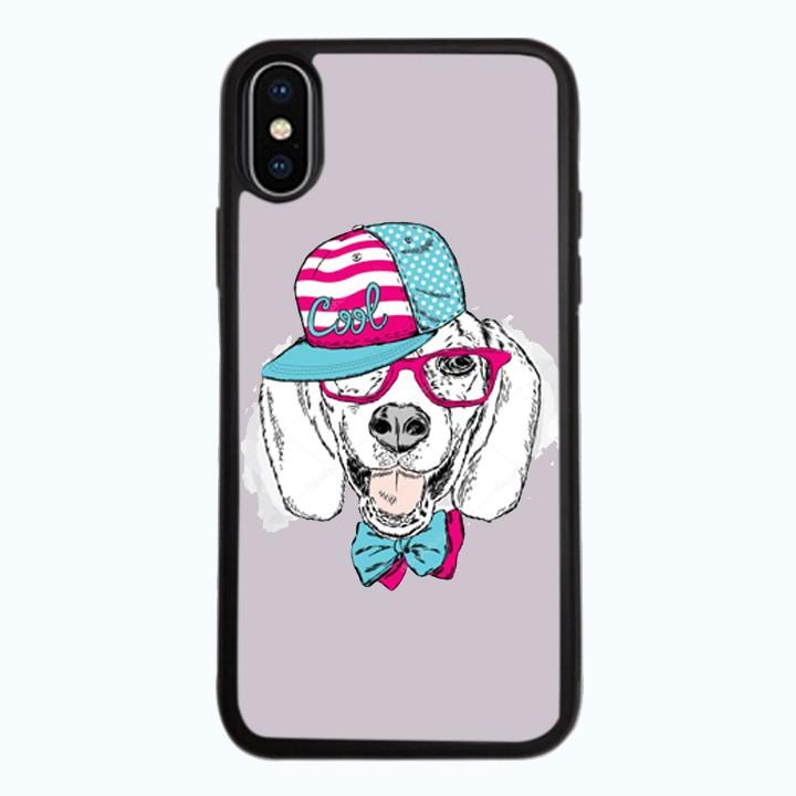 Ốp Lưng Kính Cường Lực Dành Cho Điện Thoại iPhone X Cún Cool