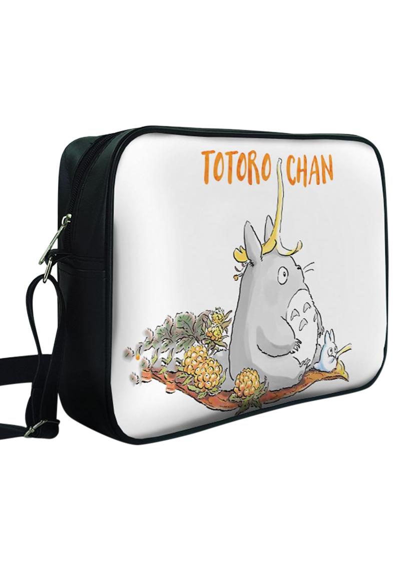 Túi Đeo Chéo Hộp Unisex In Hình Totoro Đội Vỏ Chuối - TCMA218