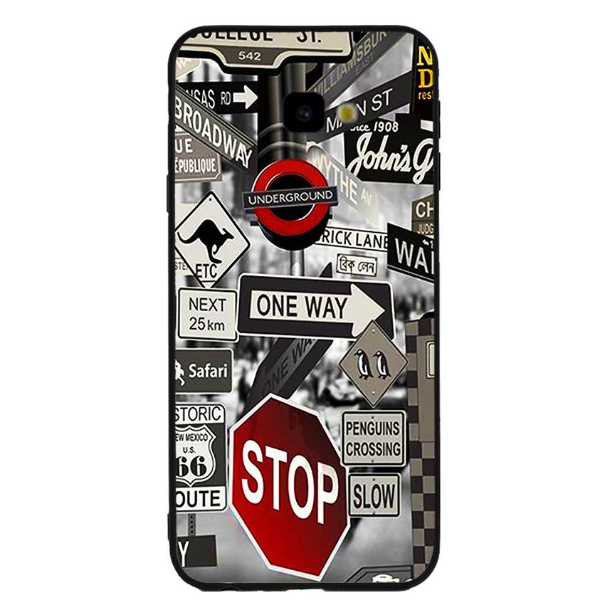 Ốp lưng viền TPU cho điện thoại Samsung Galaxy J4 Plus -Street 01