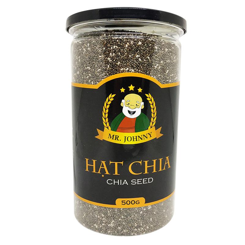 Hạt Chia Đen (Black Chia Seeds) (Hũ / 500g)