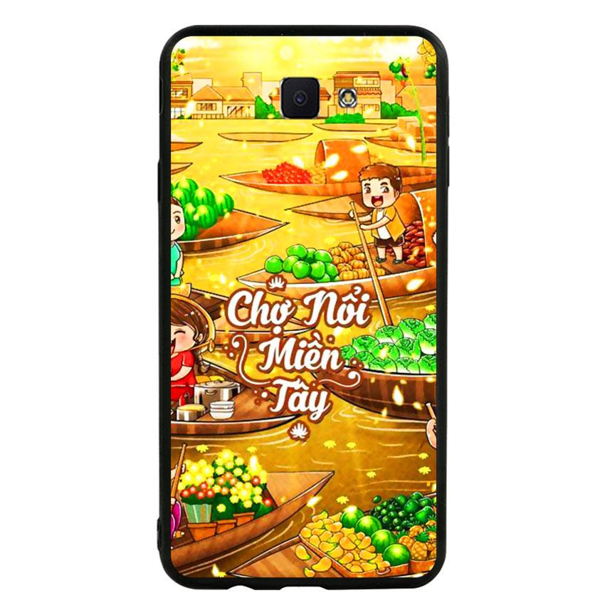 Ốp lưng nhựa cứng viền dẻo TPU cho điện thoại Samsung Galaxy J7 Prime -Chợ Nổi Miền Tây