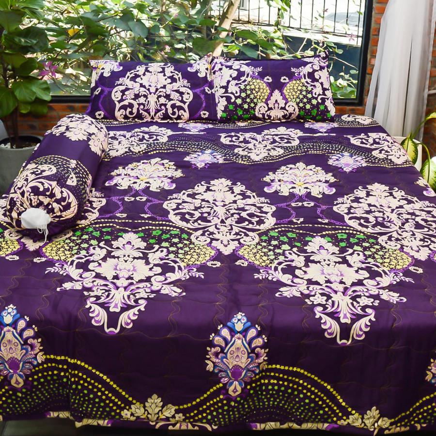 Bộ sản phẩm 5 món , đặc biệt chăn gối chần gòn vải cotton hoa P27