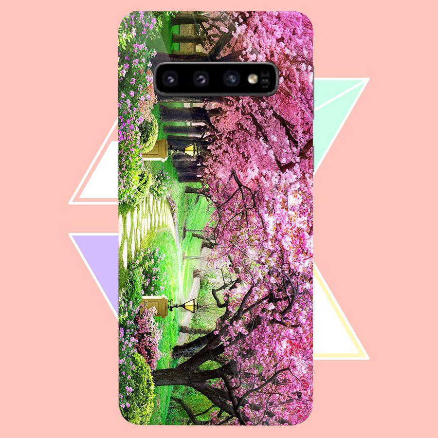 Ốp kính cường lực cho điện thoại Samsung Galaxy S10 Plus - Vườn Hoa MS VHOA035 - Hàng Chính Hãng