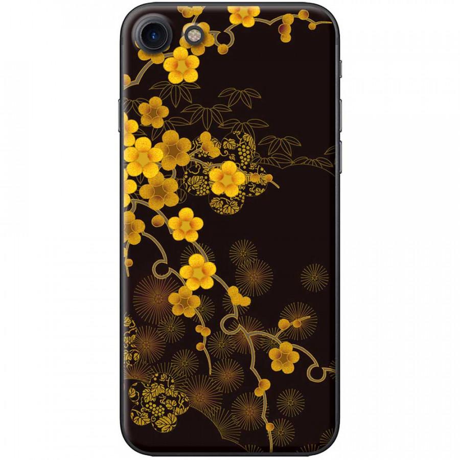 Ốp lưng dành cho iPhone 7 mẫu Hoa mai nền đen