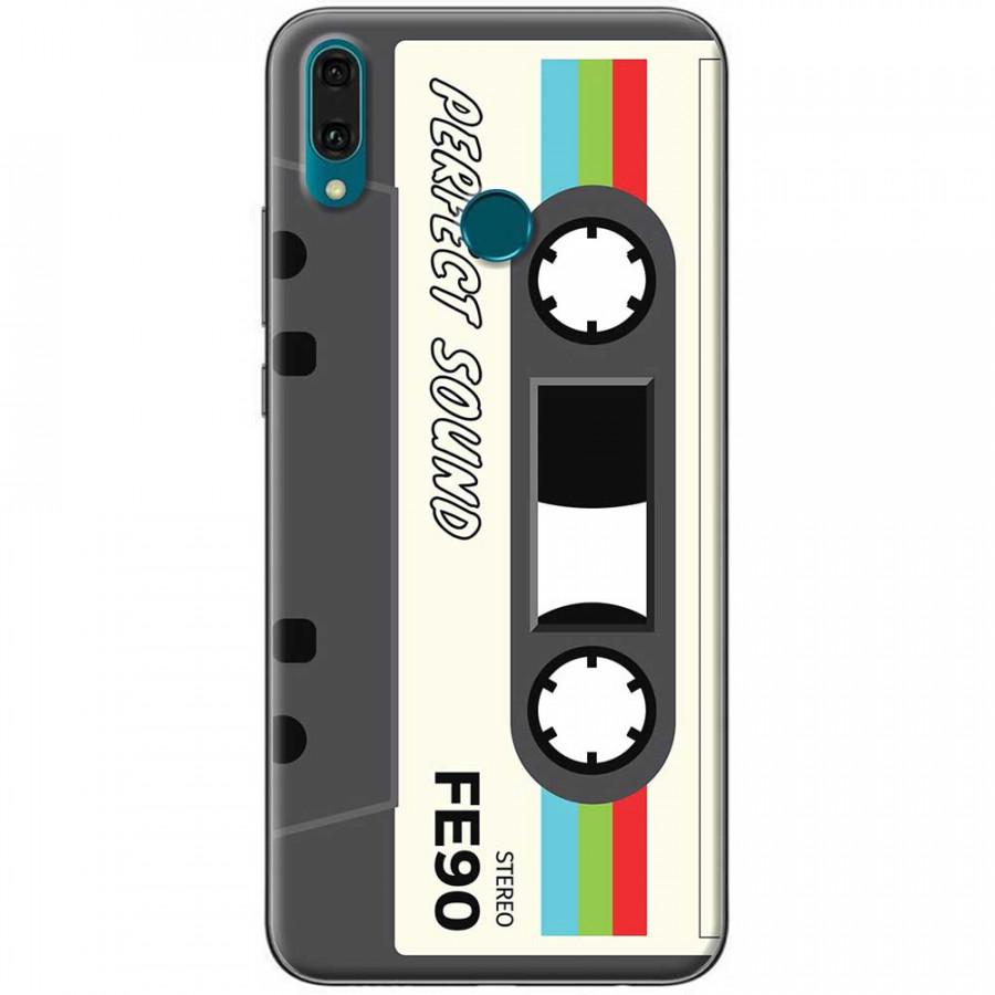 Ốp lưng dành cho Huawei Y9 2019 mẫu Cassette xám trắng