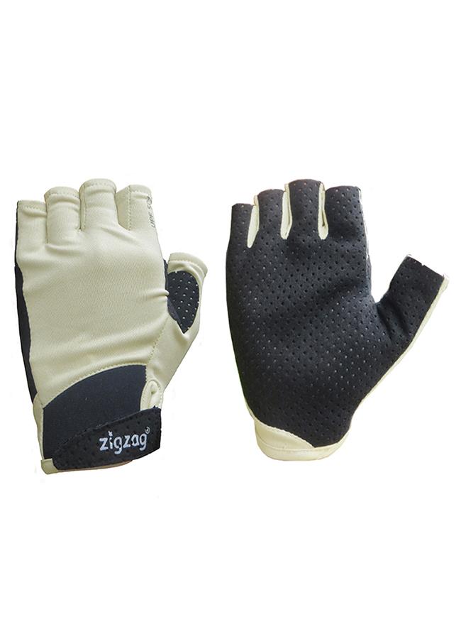 Găng tay thể thao chống nắng UPF50+ kem đen Zigzag GLV00412