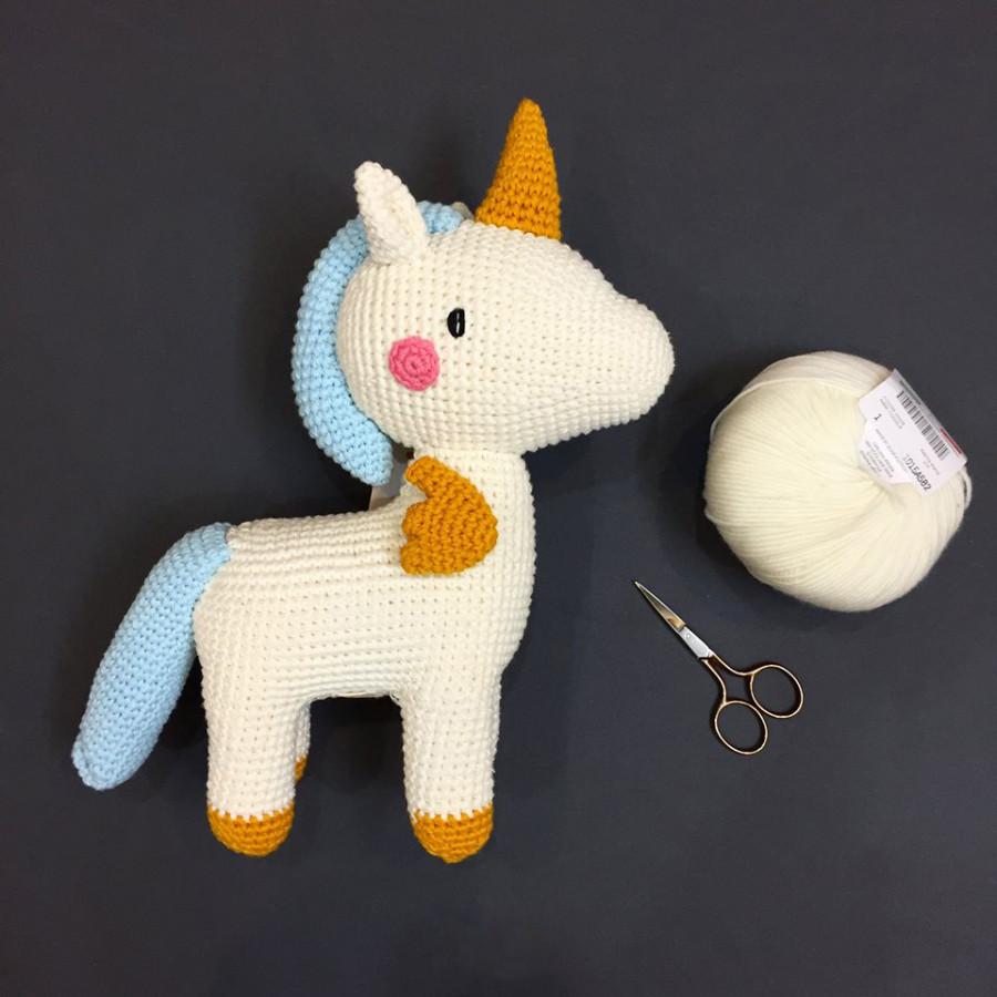 Thú Bông Unicorn Cho Bé - Đồ Chơi thủ công an toàn - Crochet Doll - Stuffed Doll by The Bunny - 776832 , 6586659958984 , 62_11278223 , 490000 , Thu-Bong-Unicorn-Cho-Be-Do-Choi-thu-cong-an-toan-Crochet-Doll-Stuffed-Doll-by-The-Bunny-62_11278223 , tiki.vn , Thú Bông Unicorn Cho Bé - Đồ Chơi thủ công an toàn - Crochet Doll - Stuffed Doll by The Bu