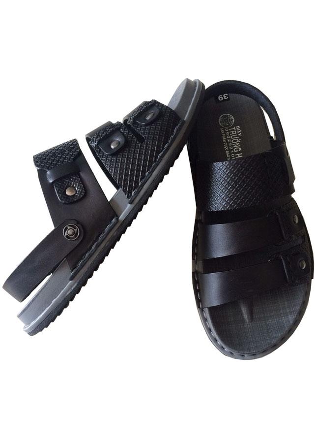 Dép nam quai hậu - dép sandal  da bò cao cấp QN 026