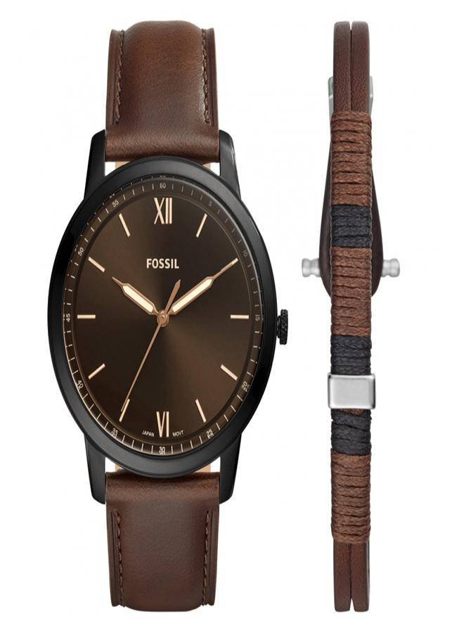 Đồng hồ Nam Dây da FOSSIL FS5557SET