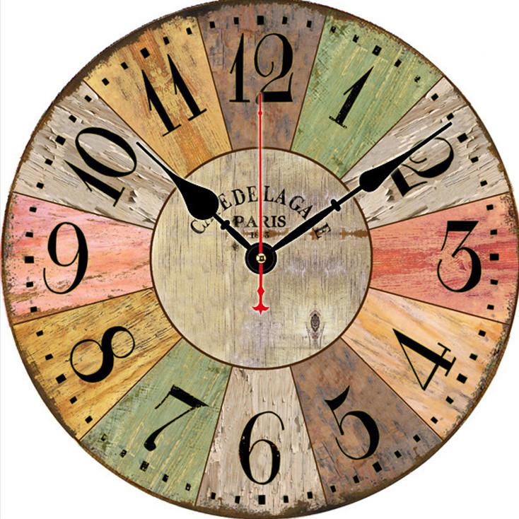 Đồng hồ treo tường Vintage Phong cách Châu Âu size to 30cm DH31