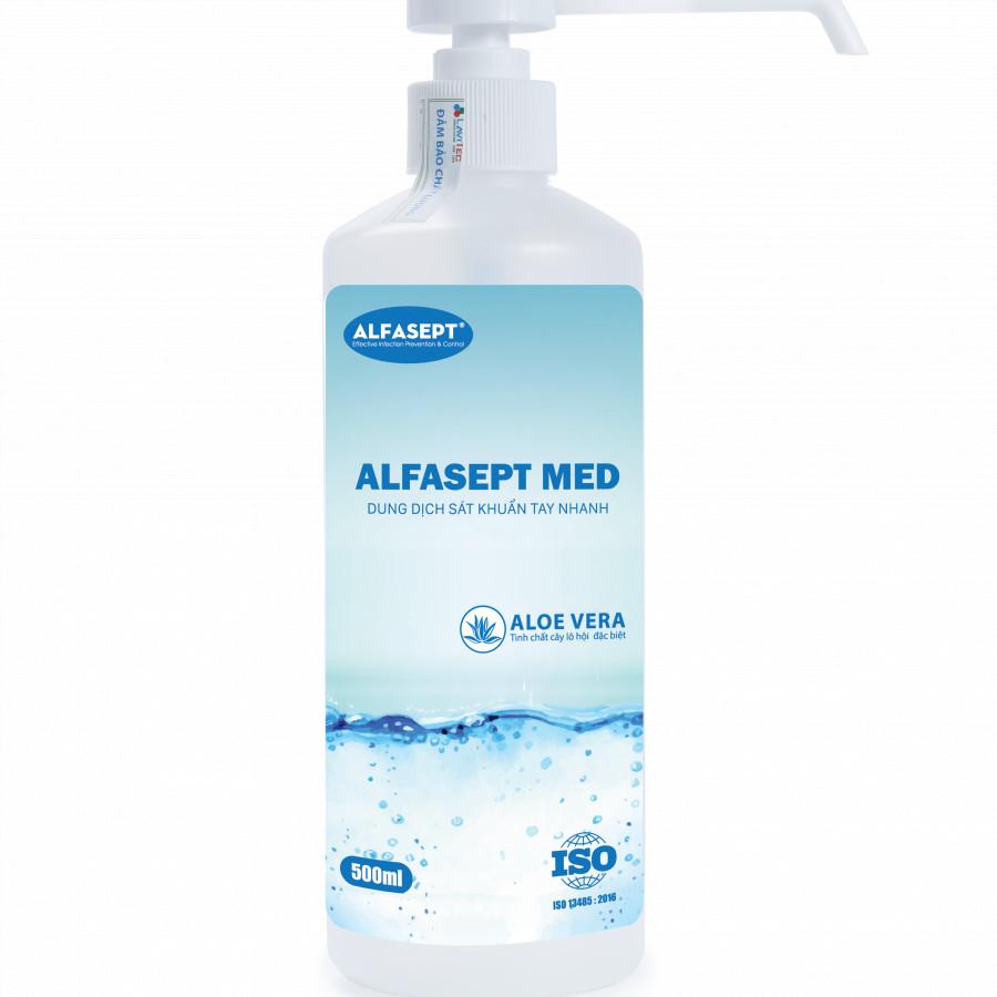Nước rửa tay sát khuẩn nhanh ALFASEPT MED  500ml- Tinh chất nha đam - 1766090 , 5908440318387 , 62_12521517 , 235000 , Nuoc-rua-tay-sat-khuan-nhanh-ALFASEPT-MED-500ml-Tinh-chat-nha-dam-62_12521517 , tiki.vn , Nước rửa tay sát khuẩn nhanh ALFASEPT MED  500ml- Tinh chất nha đam