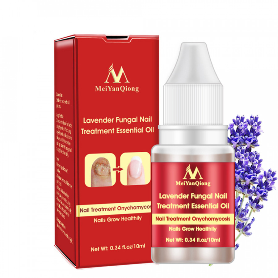 MeiYanQiong Lavender Fungal Nail Treatment Essential Oil Nail Nourishing Brightening Promote Nails Grow Onychomycosis
