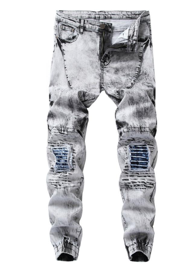 Quần jeans jogger chắp vá Mã: ND1412