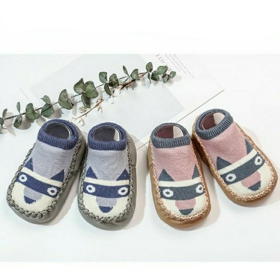Combo 2 đôi giày len tập đi chống trượt cho bé trai, bé gái