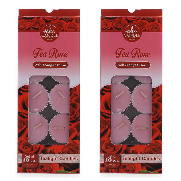 Bộ 2 hộp nến tealight thơm Miss Candle FtraMart MIC0147 (Lựa chọn 10 mùi hương)