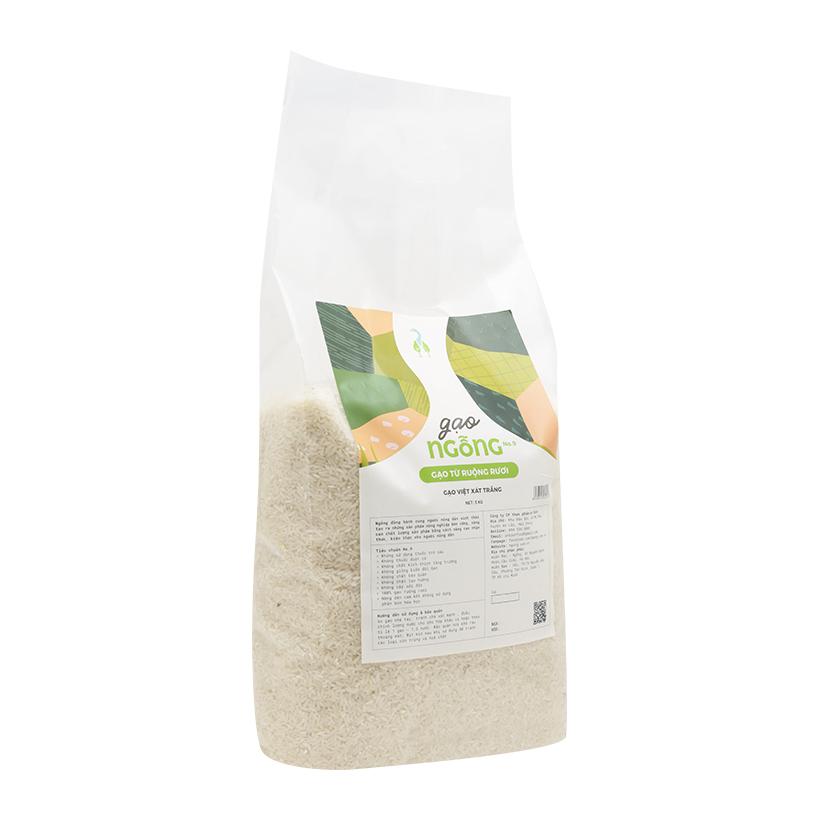 Gạo Việt xát trắng - Gạo Ngỗng túi 5kg