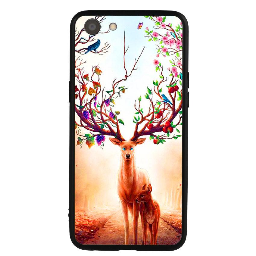 Ốp Lưng Viền TPU cho điện thoại Oppo A83 -Deer 01