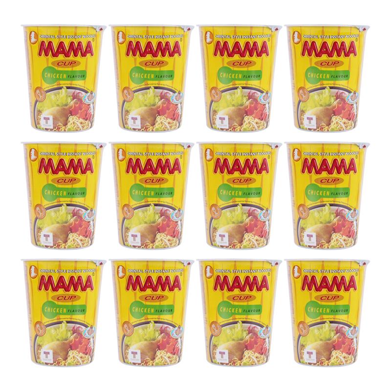 Thùng 12 Mì Ly Hương Gà Mama (60gr/ly)