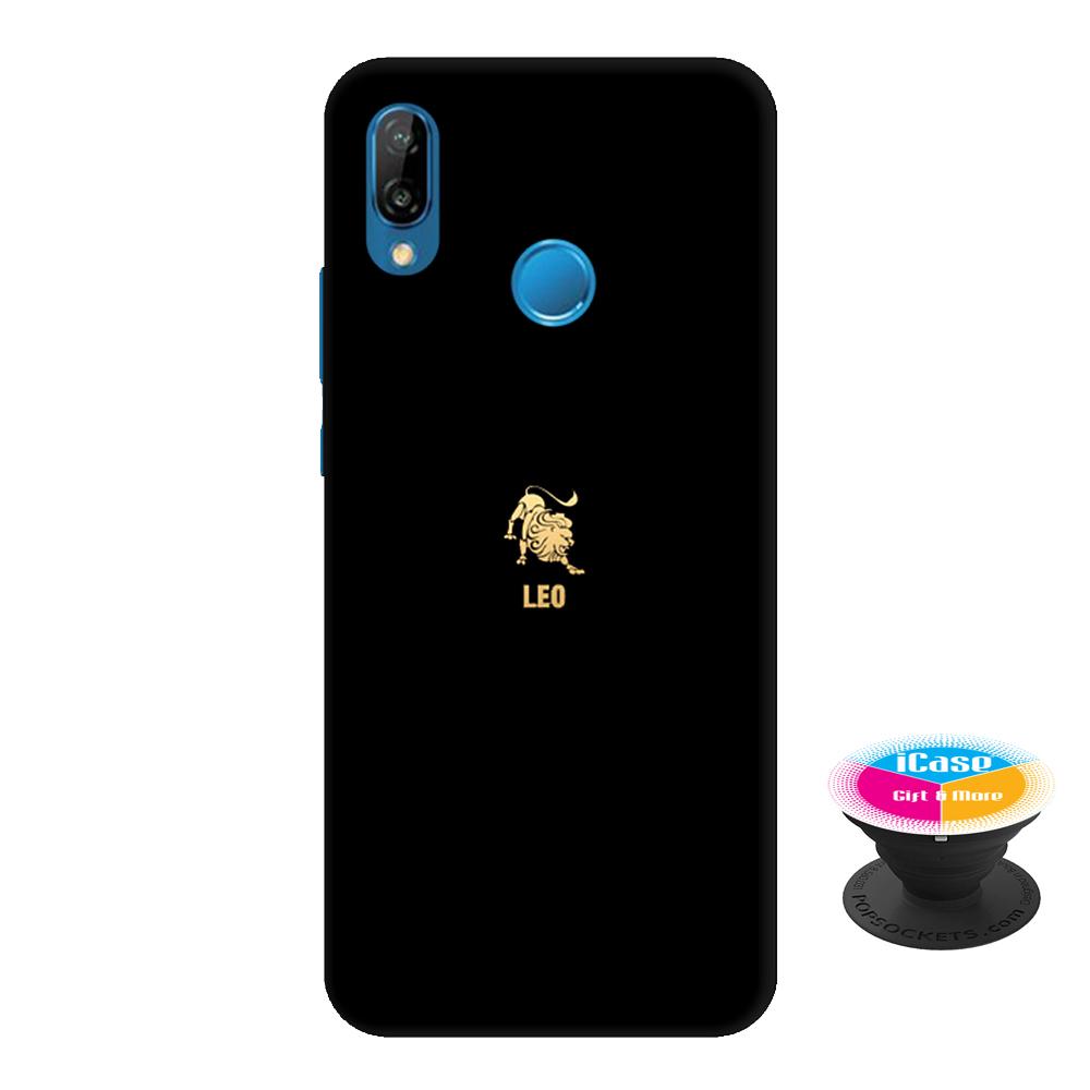 Ốp lưng nhựa dẻo dành cho Huawei Nova 3E in hình leo - Tặng Popsocket in logo iCase - Hàng Chính Hãng