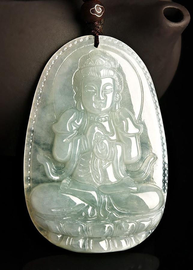 Mặt Dây Chuyền Như Phật Lai Đại Nhật ngọc Phỉ Thúy