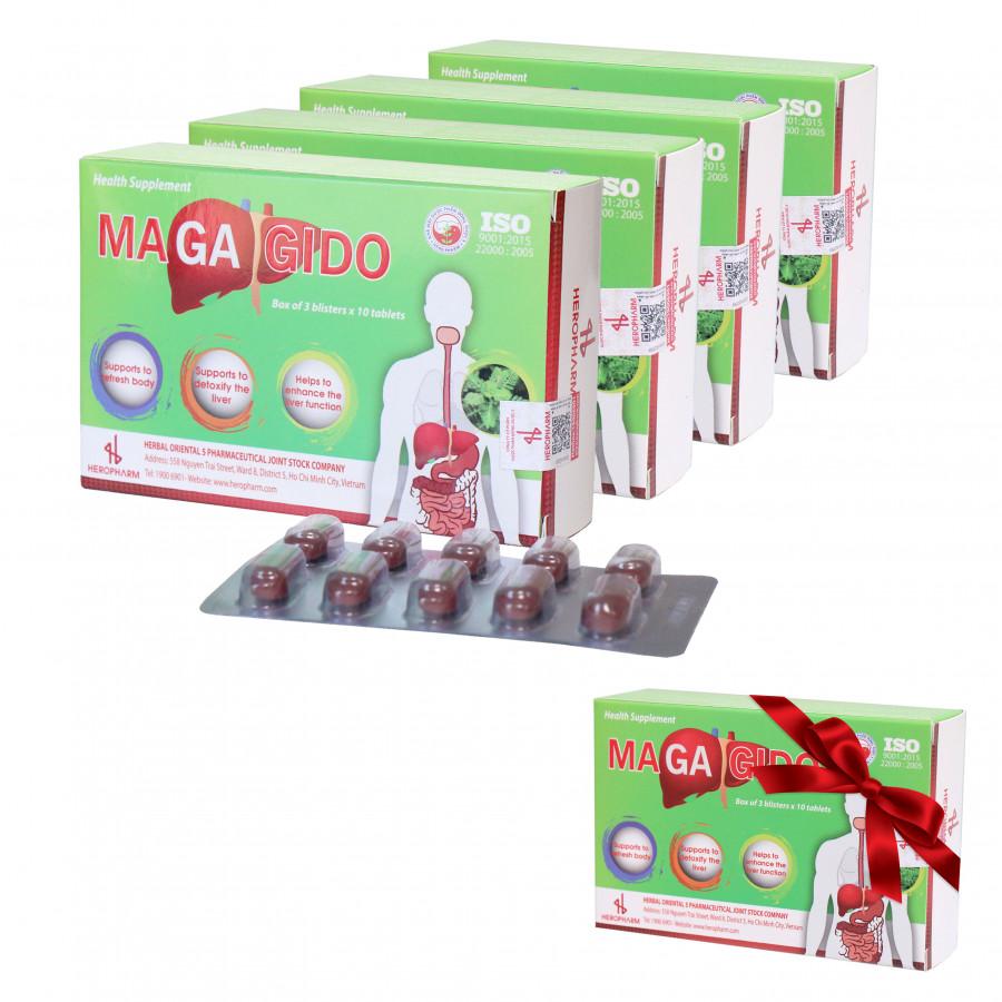 Bộ 4 hộp Thực phẩm bảo vệ sức khỏe Magagido + Tặng 1 hộp cùng loại - 7520668 , 3535876817751 , 62_16274392 , 476000 , Bo-4-hop-Thuc-pham-bao-ve-suc-khoe-Magagido-Tang-1-hop-cung-loai-62_16274392 , tiki.vn , Bộ 4 hộp Thực phẩm bảo vệ sức khỏe Magagido + Tặng 1 hộp cùng loại
