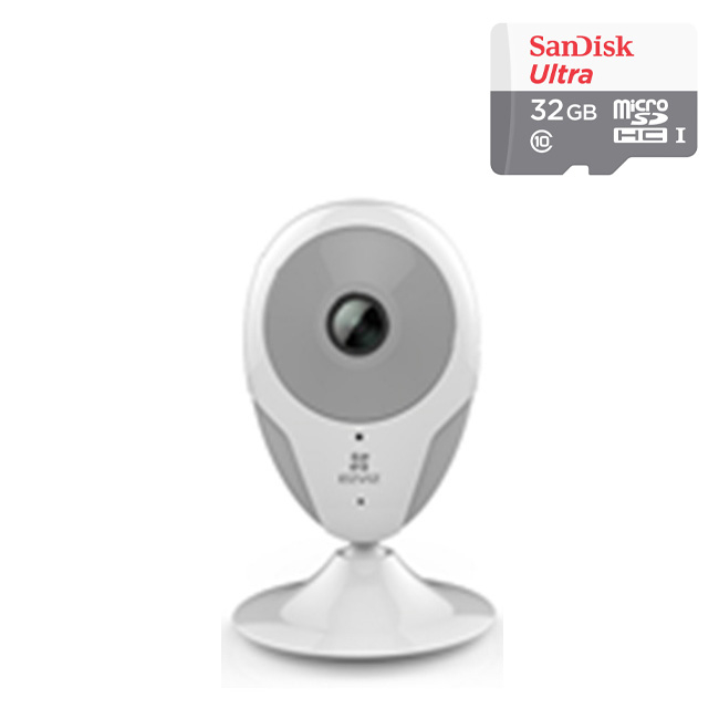Camera Wifi Đa Năng CS-CV206-A0-1B2W2FR 2.0MP Và Thẻ Nhớ 32GB - Tặng Kèm Tai Nghe Bluetooth - Hàng chính hãng